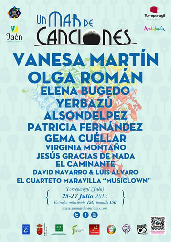 CARTEL UN MAR DE CANCIONES 2013